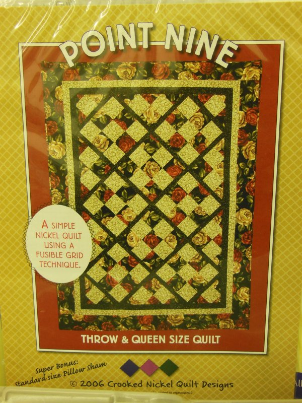 Point Nine: Throw&Queen Size Quilt Pattern