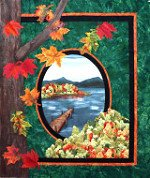 Fall Reflections - Hot Ribbon Applique by Lennie Honcoop - Dutch Quilter