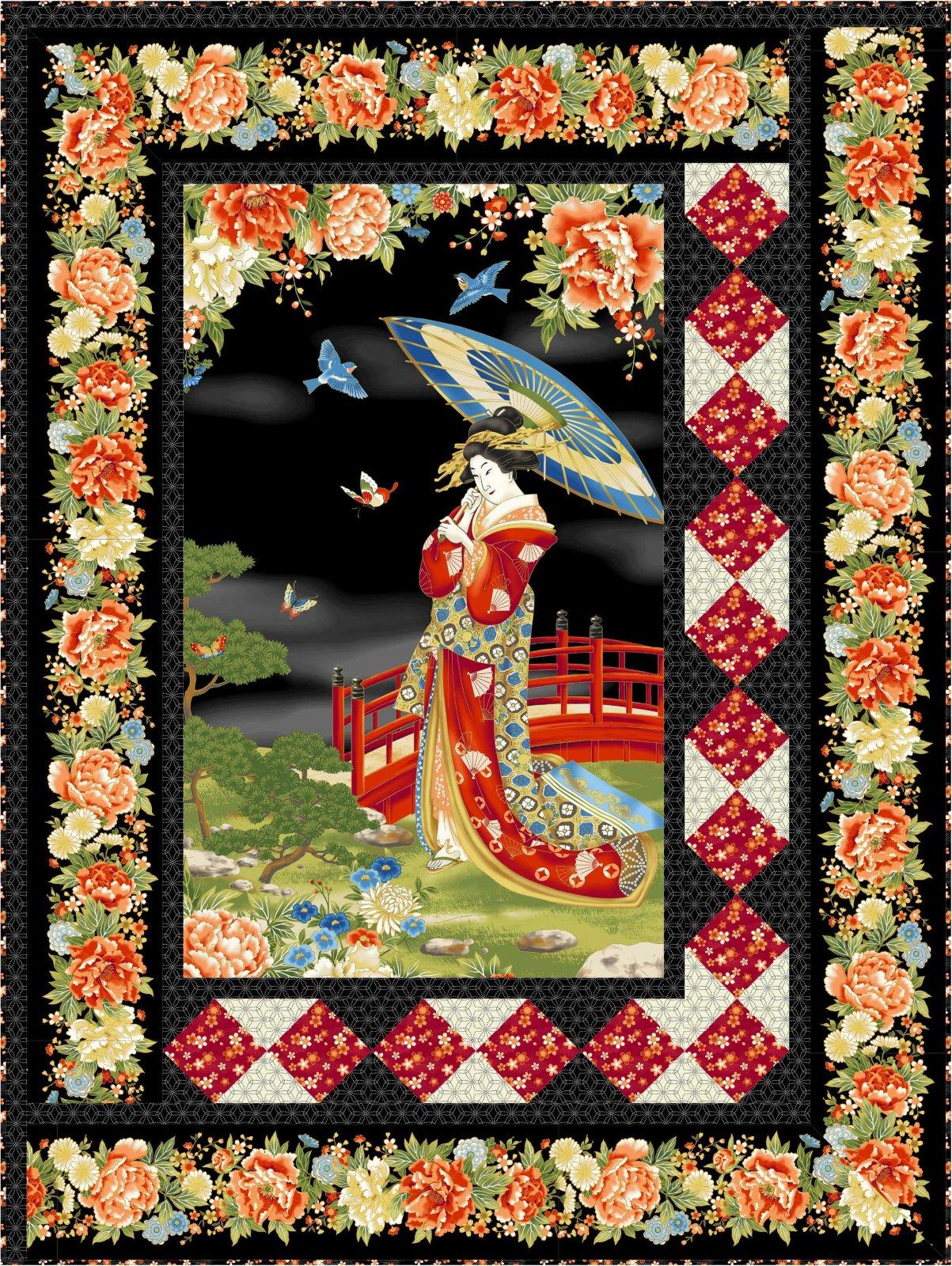 Geisha in the Garden Quilt Kit