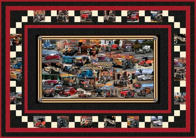 Quilting Treasures-Hot Rods Quilt Kit