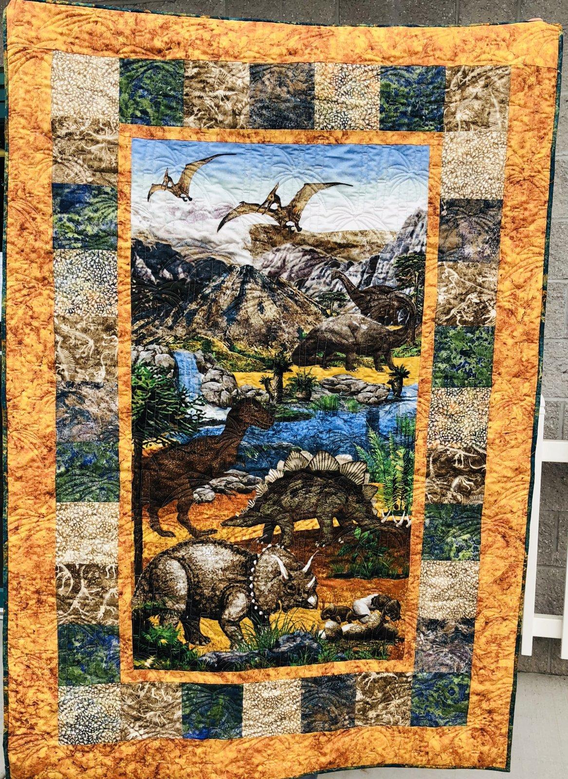 Fabric Chicks Dinosaur Quilt Kit