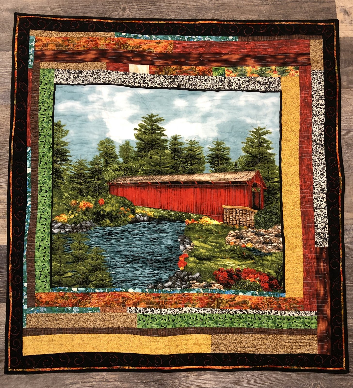 Covered Bridge Wall hanging