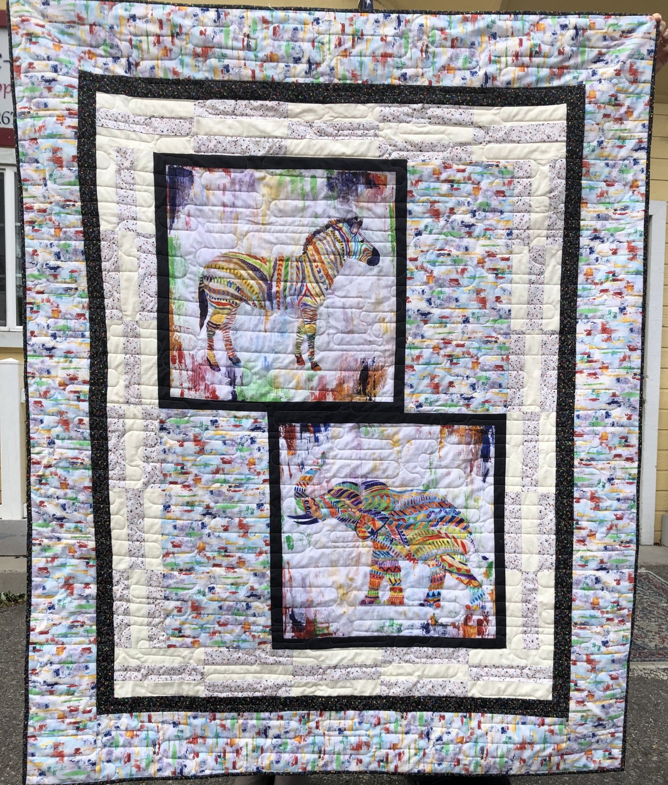 Fabric Chicks-Zebra Quilt