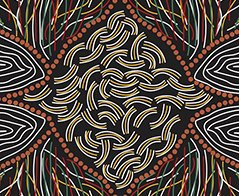 M&S Textiles- Australia- Kokos String Black KOKB -Designed by Audrey M Napanangka