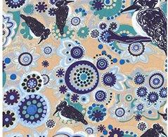 M&S Textiles- Australia- Kookaburra Blue