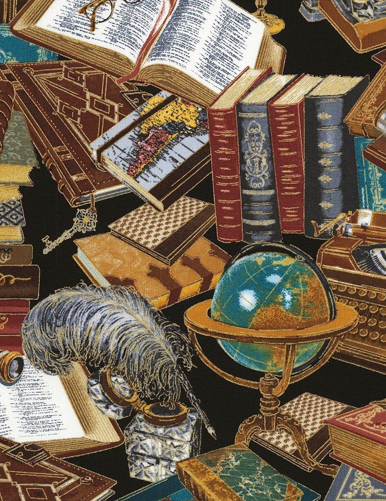 Timeless Treasures-Library-CM6891 Black