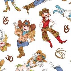 Loralie-Whoa Girl LOD692-316 Tossed Cowgirls