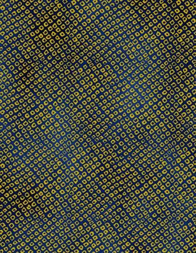 Kona Bay Fabrics: Passion Collection - PASS-05-Indigo-Gold