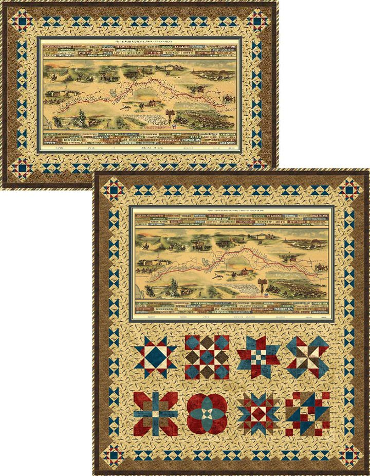 Western Journeys Pony Express Quilt Kit Throw