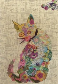 Fiberworks- Purrfect Collage Pattern by Laura Heine