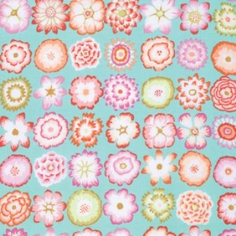 Rowan-Kaffe Fassett Fall 2015 button flowers PWGP152 aquax