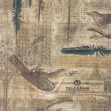 Eclectic Elements- Tim Holtz Wallflower- Aviary pwth034.8multi