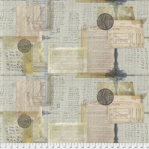 Eclectic Elements- Tim Holtz - Memoranda Arithmetic PWTH105.MULTI