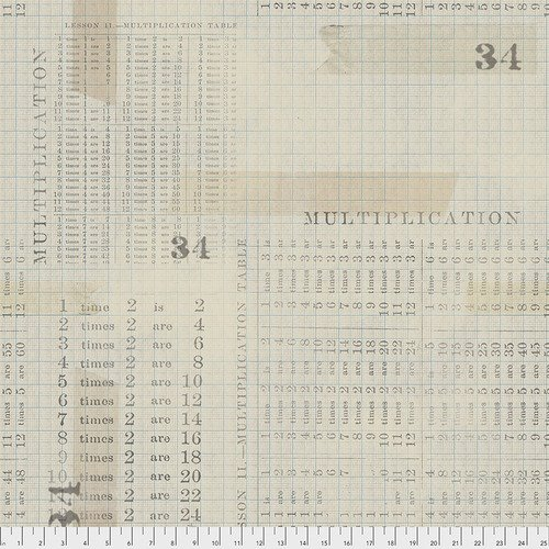 Eclectic Elements- Tim Holtz - Memoranda Multiplication Table PWTH106.AQUA