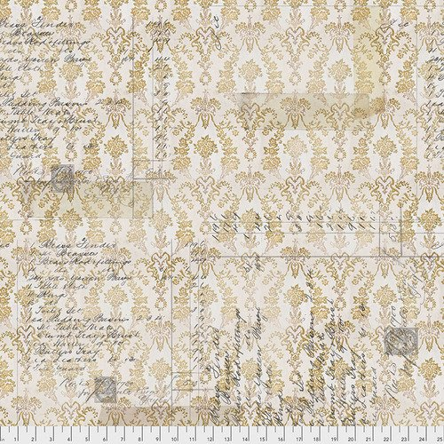 Eclectic Elements- Tim Holtz - Memoranda  Upholsters PWTH112GOLD