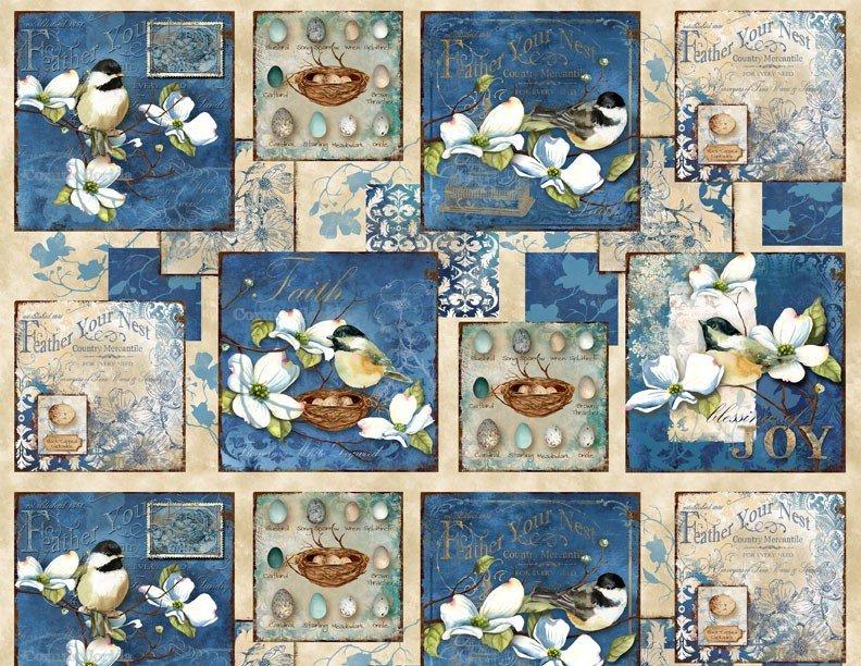 Wilmington Prints- Feather Your Nest- Q1665 33778 241 Panel