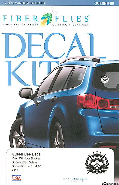 Auto Window Sticker - Queen Bee Decal - WHITE Vinyl