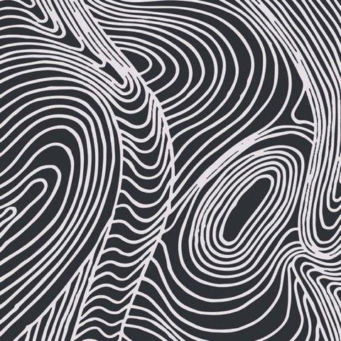 M&S Textiles Australia- River Dreaming Black -RDRB Designed by Barbara Egan
