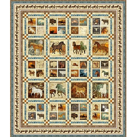 Quilting Treasures- Unbridled Quilt Kit