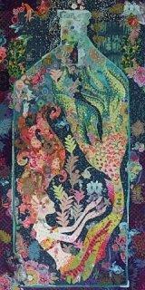 Fiberworks- Sirene Mermaid in a Bottle Collage Pattern by Laura Heine