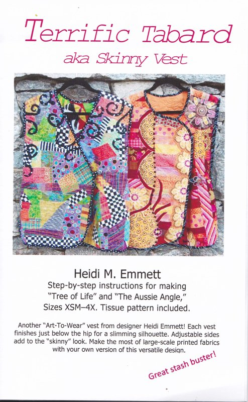 Terrific Tabard aka Skinny Vest by Heide M. Emmett