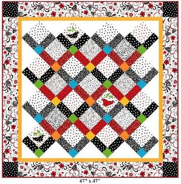 Virginia Robertson Designs: Thoroughly Modern Zig-Zag Quilt Kit