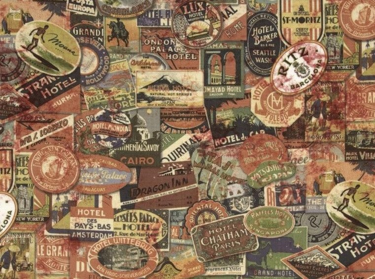 Eclectic Elements- Tim Holtz- Travel Labels PWTH009.NEUTR