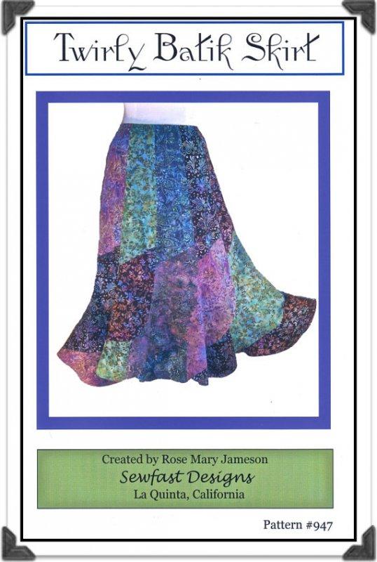Sewfast Design: Twirly Batik Skirt Pattern - 947