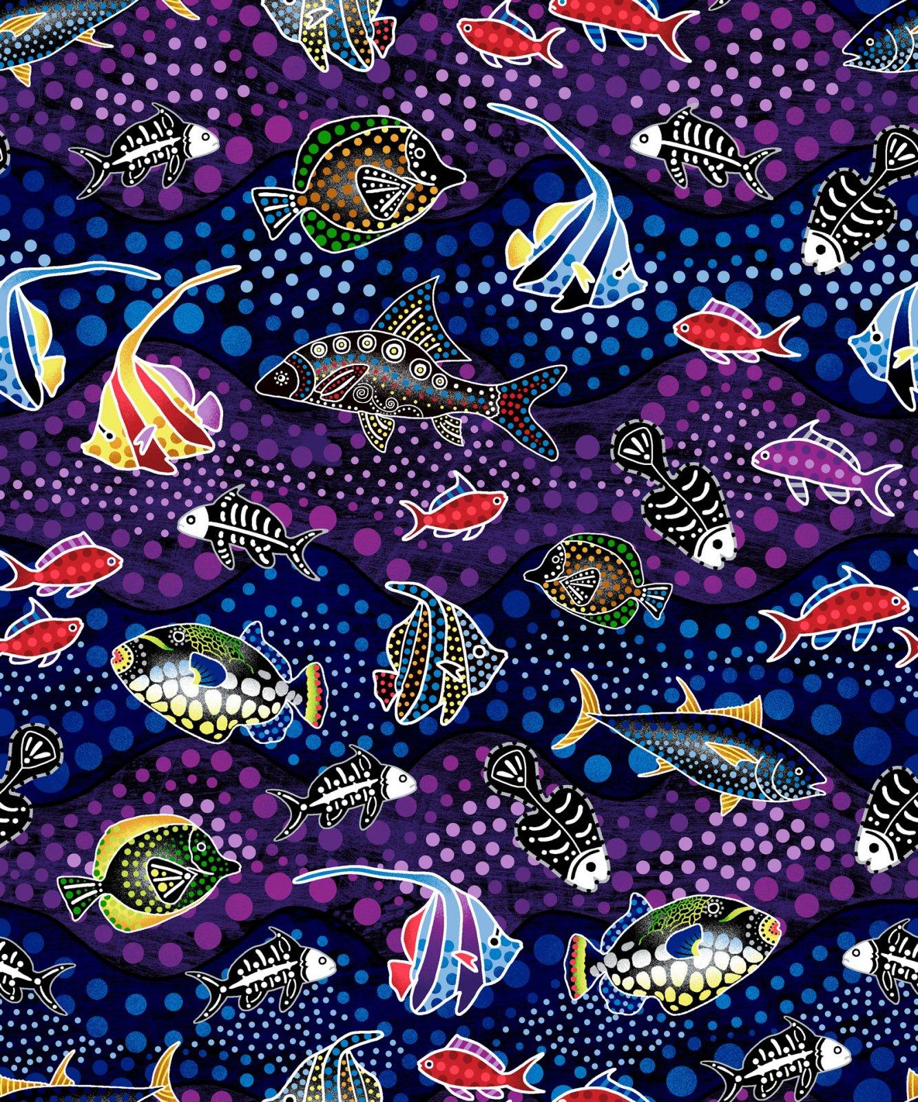 Oasis Fabrics-Way Under-Sea life-OA6022801