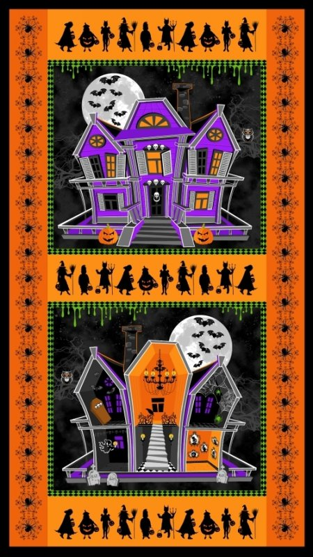 Windham Fabrics: Ghosts and Ghouls- Panel 36355-P