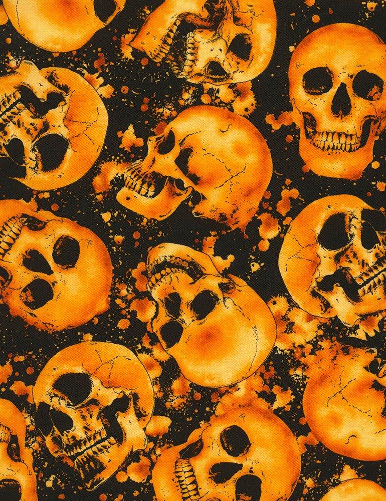 Timeless Treasures- Wicked-C3748 Skull