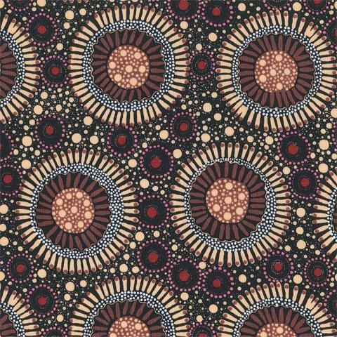 M&S Textiles Australia -Wild Flora Apricot -WFLA Designed by Christine Doolan
