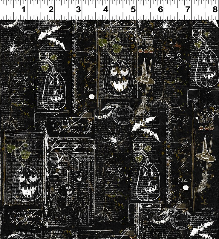 Clothworks- Something Wicked Y2428-3 Black