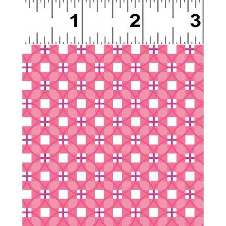Clothworks-Stitch Cats Y2582-74 Raspberry