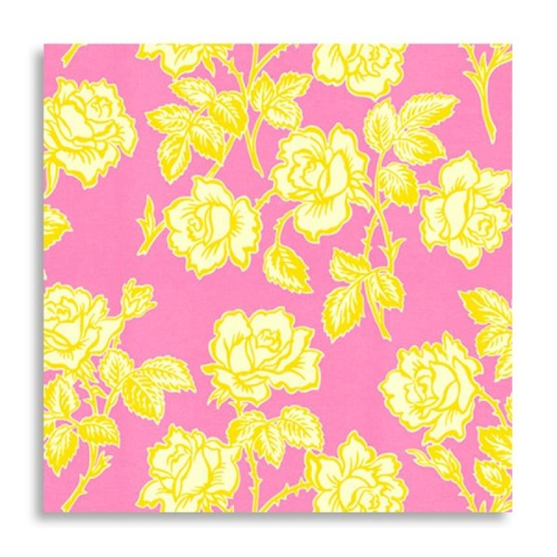 Free Spirit-Heather Bailey Pop Garden Wallpaper Roses - Pinkypurple HB06