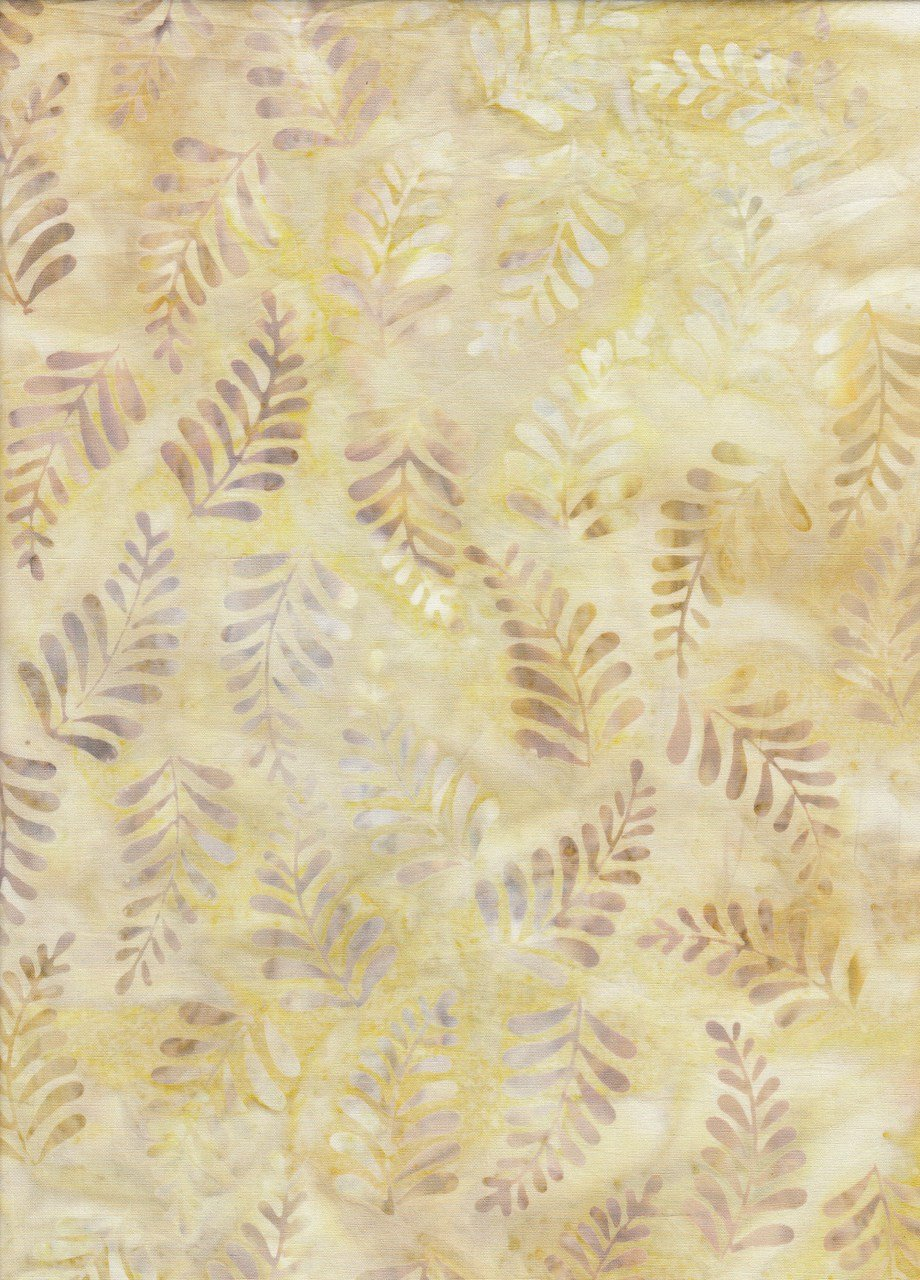 Art Inspired Ferns - Pale Yellow
