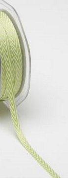 Twill Ribbon 1/4in - Celery Chevron Stripes