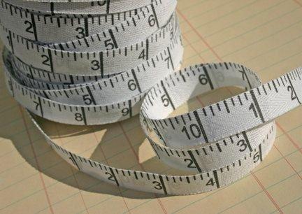 Twill Measuring Tape 5/8in Horizontal - White