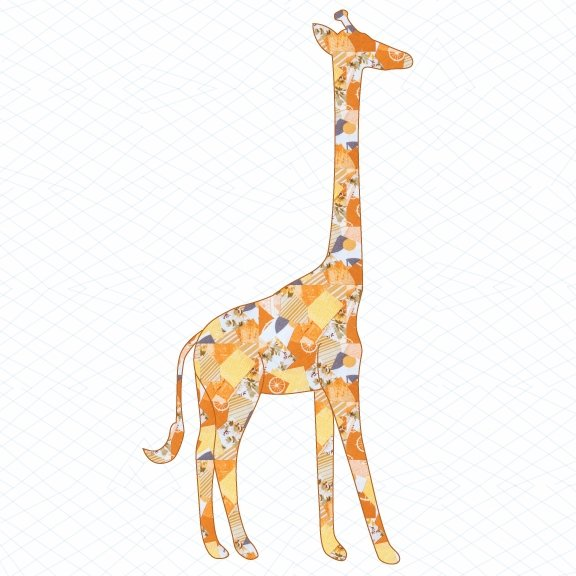 giraffe applique template