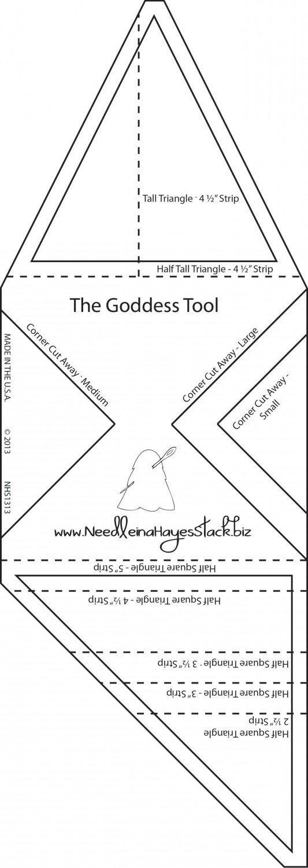 Goddess Tool Template