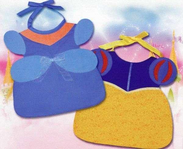 Blue & Puff Sleeve - Princess Toddler Bibs