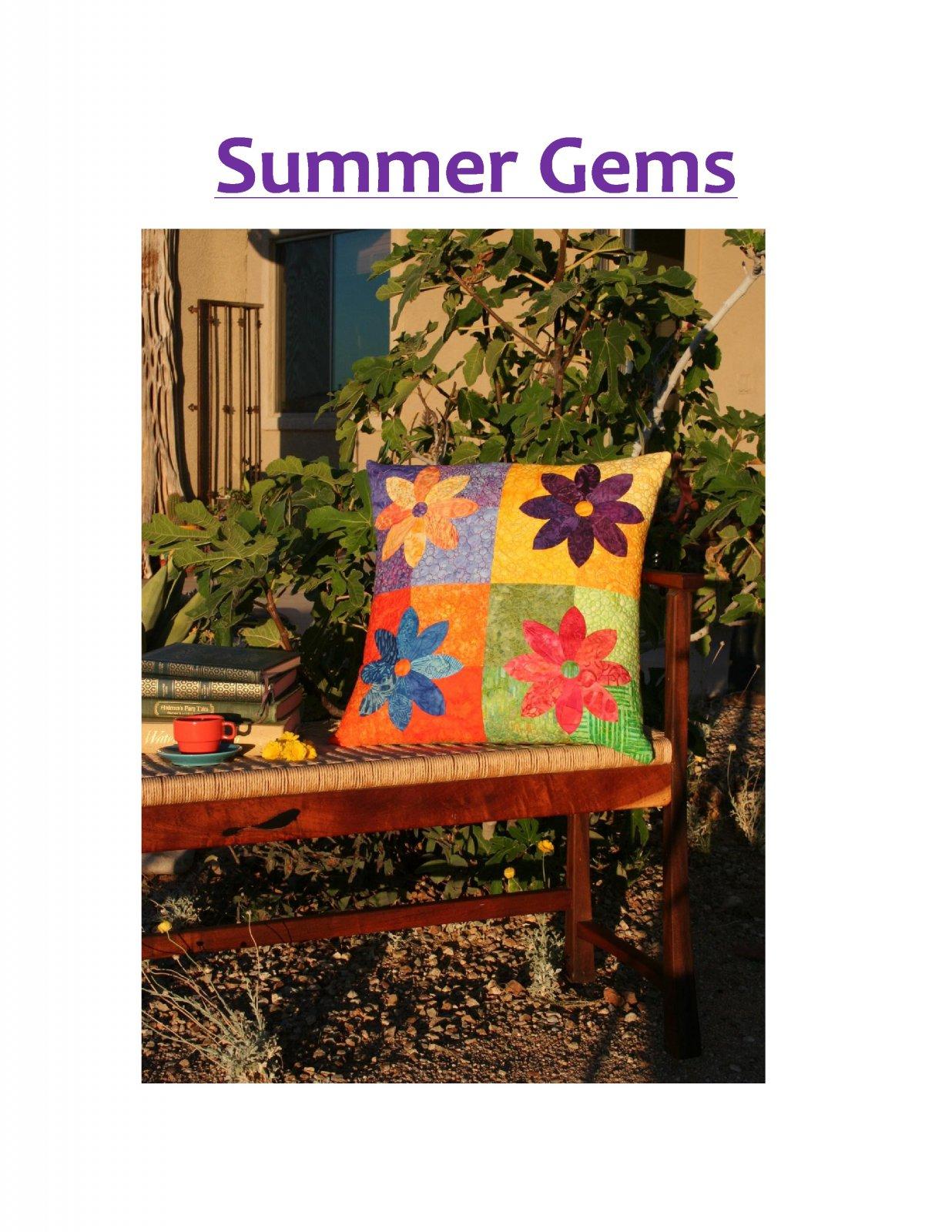 Summer Gems Pillow Pattern