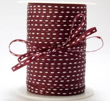 Center Stitch 1/8in - Burgundy