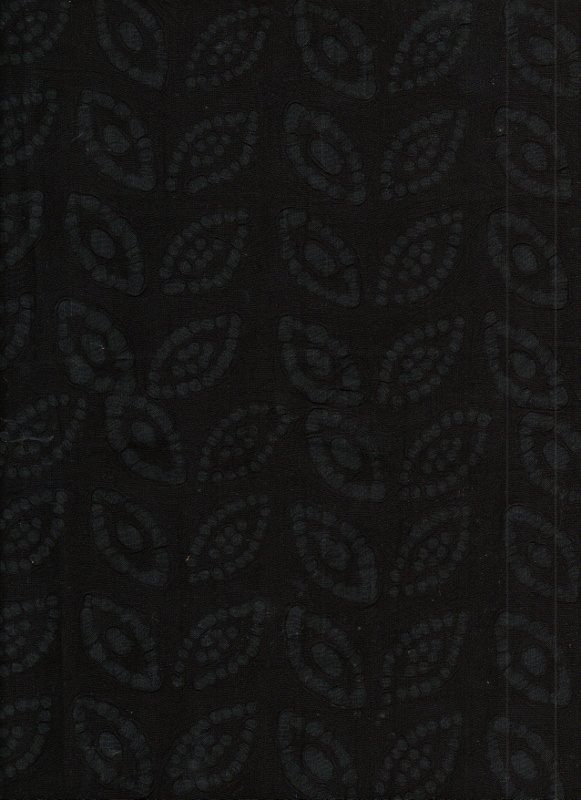 Black Embossed Leaves