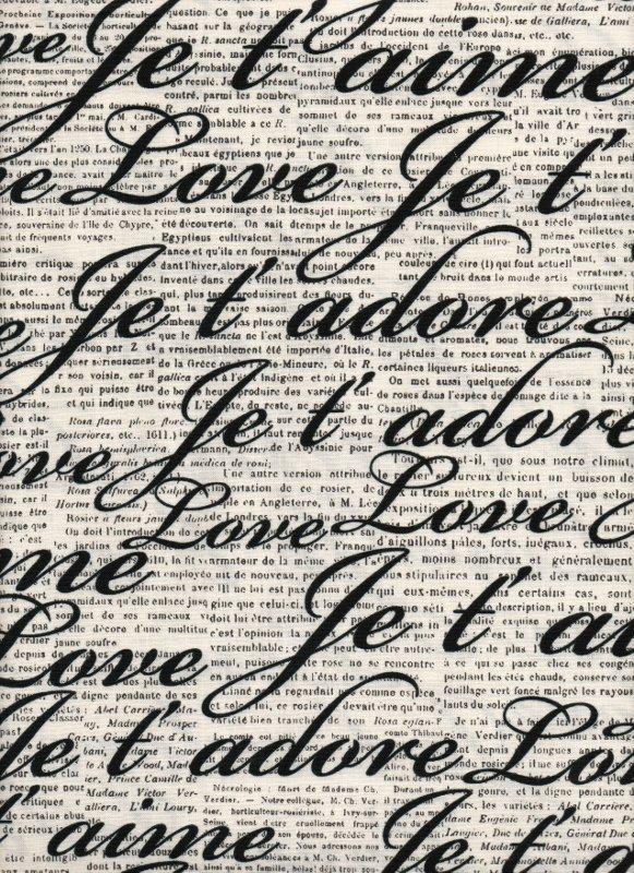 Roses, Roses - Loving Words Newsprint