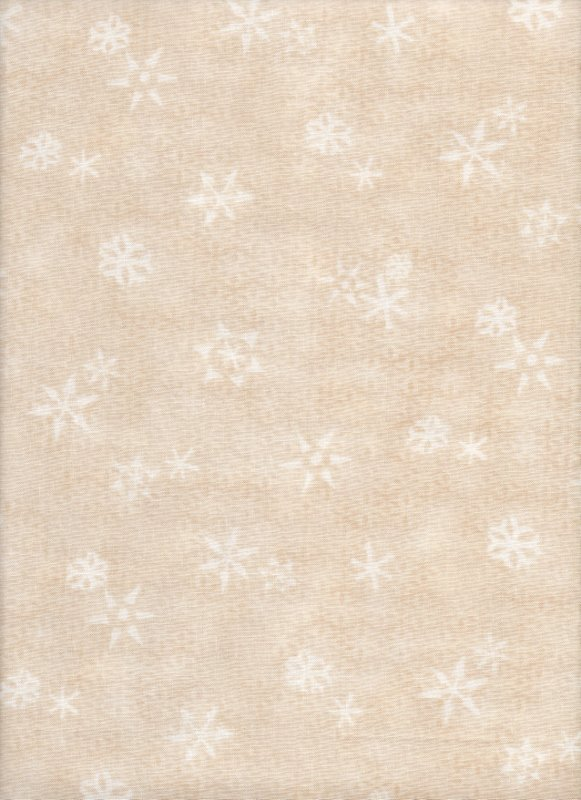 Ivory Stars & Snowflakes on Ecru background