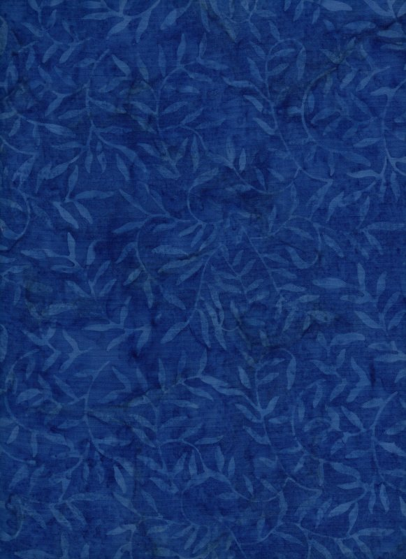 Blue Vines on Cobalt Background Batik