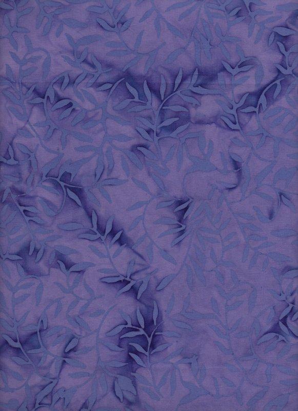 Lavender Vines Tone-on-Tone Batik
