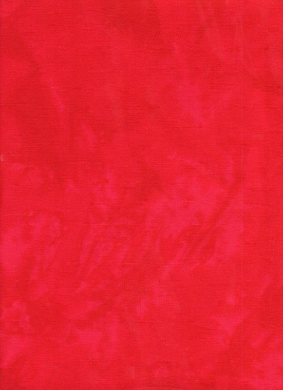 Candy Apple Red Hand Dyed Batik