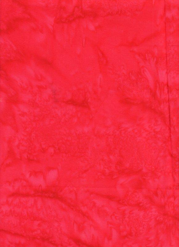 Tomato Red Hand Dyed Batik